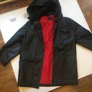 Versace leather men's jacket